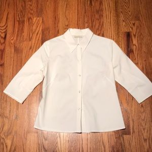 Banana Republic white stretch blouse